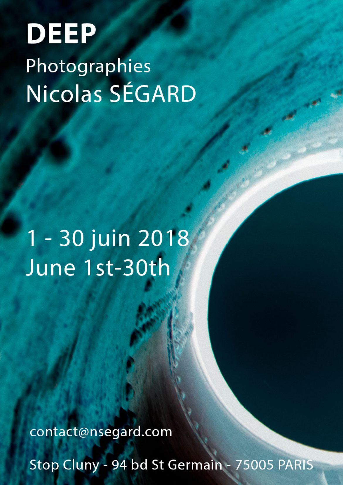 Nicolas Segard Deep Affiche expo photo Paris