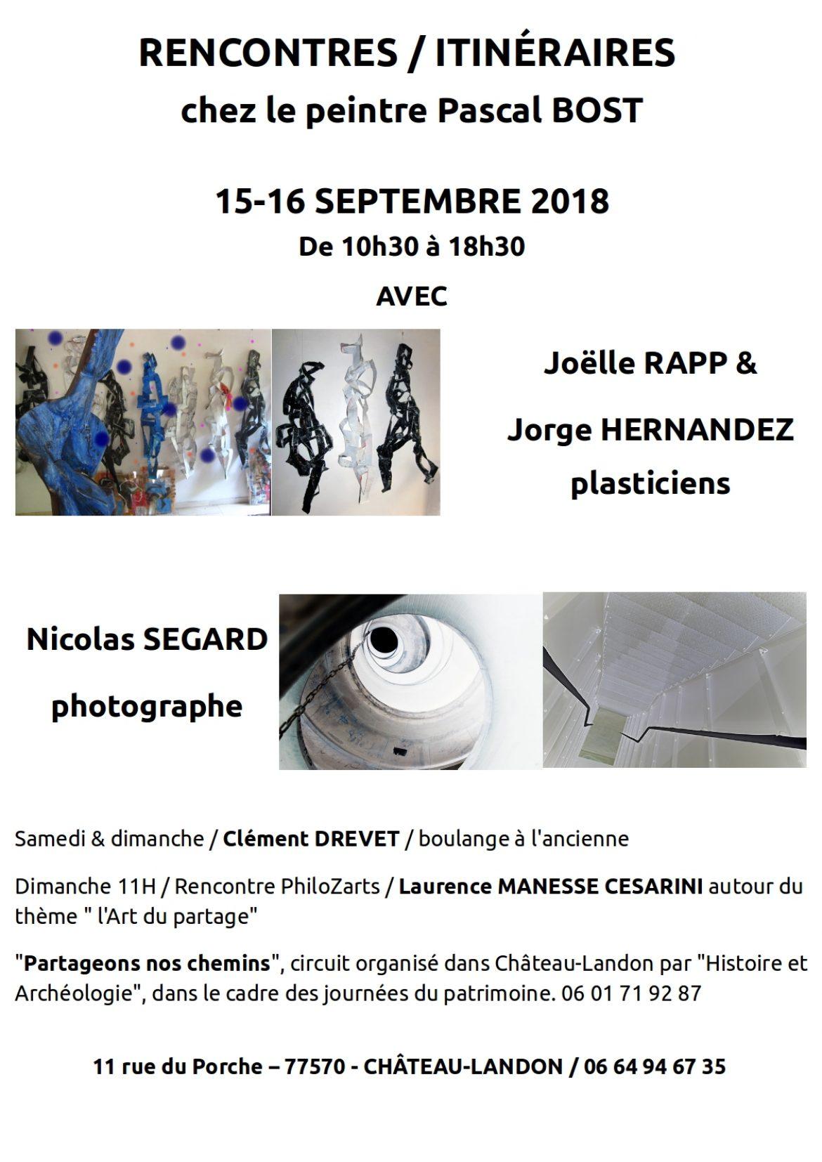 Nicolas Ségard Rencontres Chateau-Landon JEP 2018
