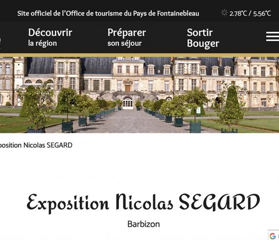 Expo Parizon de Nicolas Ségard publiée par l'office de tourisme de Fontainebleau