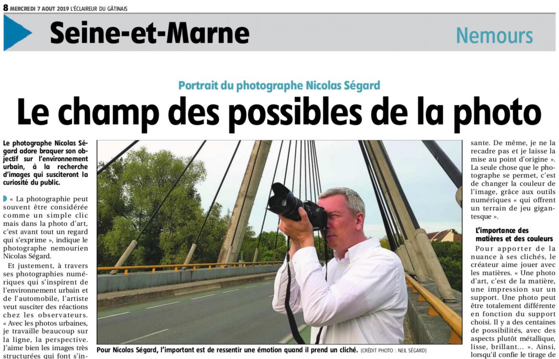 Article sur Nicolas Ségard Eclaireur du Gatinais
