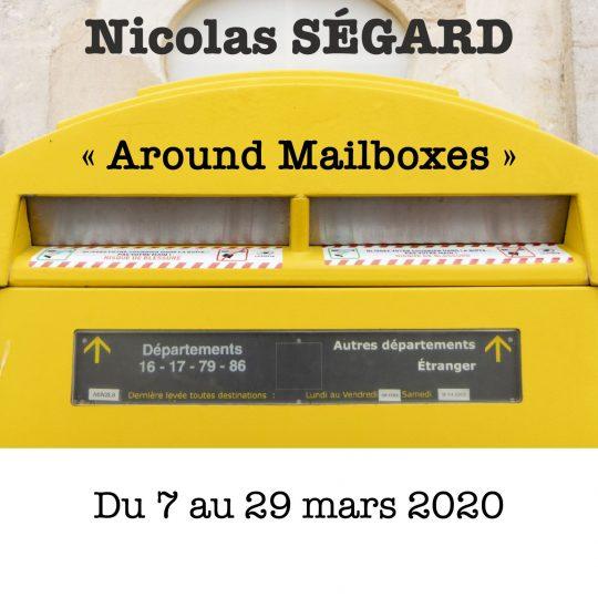 Affiche exposition photo around mailboxes Nicolas Ségard mars 2020
