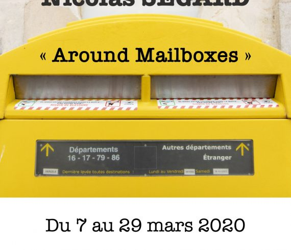 Affiche exposition photo around mailboxes Nicolas Ségard mars 2020